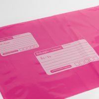 ซองไปรษณีย์สีชมพู ปากกาลูกลื่นเขียนติดง่าย